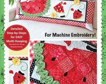 "Slice of Summer"" Watermelon Bench Pillow Embroidery CD KD522"