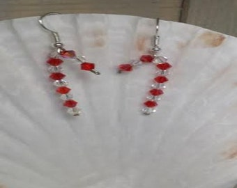 Candy Cane Earrings (HER002)