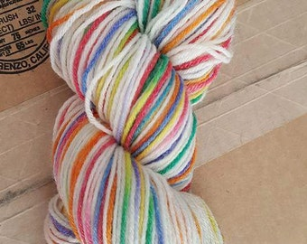 Hand dyed sport weight yarn