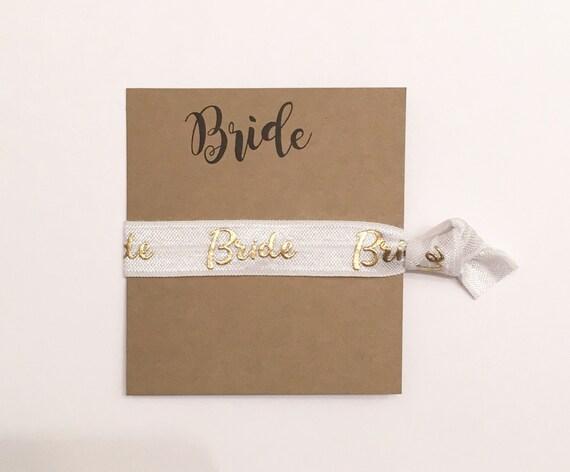 Bridesmaid hair tie favor//bridal shower, bachelorette party, bridesmaid gift, hair tie favor, hair tie card, party favor, bachelorette gift