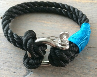 Mens Bracelet by sailing rope for water sports enthusiasts.