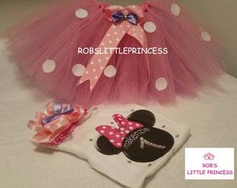 pink minne mouse birthday set