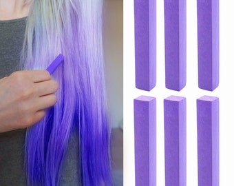 6 Best Temporary Vivid Indigo hair Dye for dark and light hair - Set of 6 | DIY Vivid Indigo hair Chalk for easy and simple hair coloring