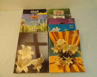 Set of 10 Ideals Easter Magazines