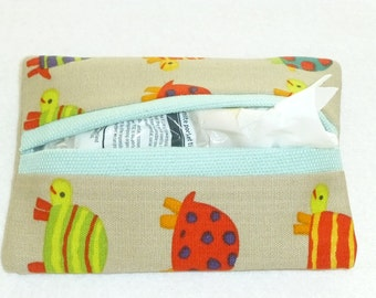 Pocket Tissue Holder,  Pocket Tissue Pouch, Travel Tissue Holders, Pocket Tissue Wrap, Gifts for her, Tissue Holder, Tissue Pouch,