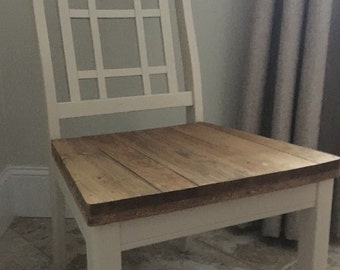 Reclaimed Pine Wood. Dining Room Chairs.
