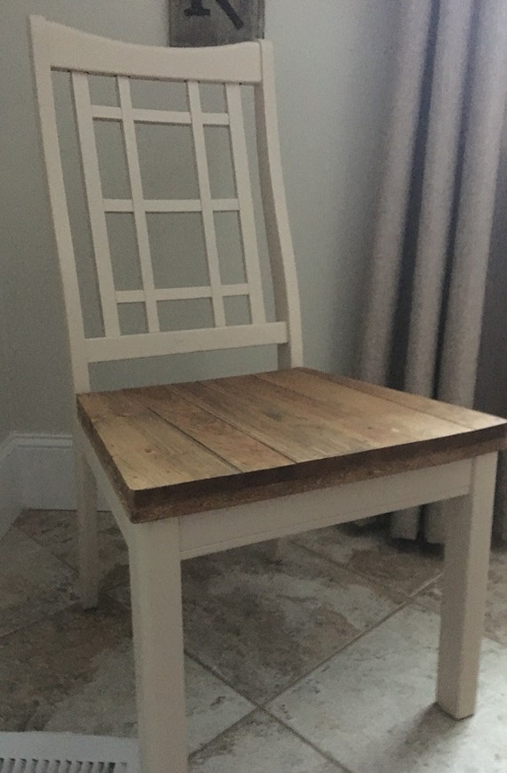 reclaimed pine wood dining room chairs