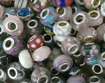 Eurpean Charms or Beads Bulk 200 Pack