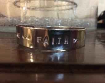 Love faith hope bracelet