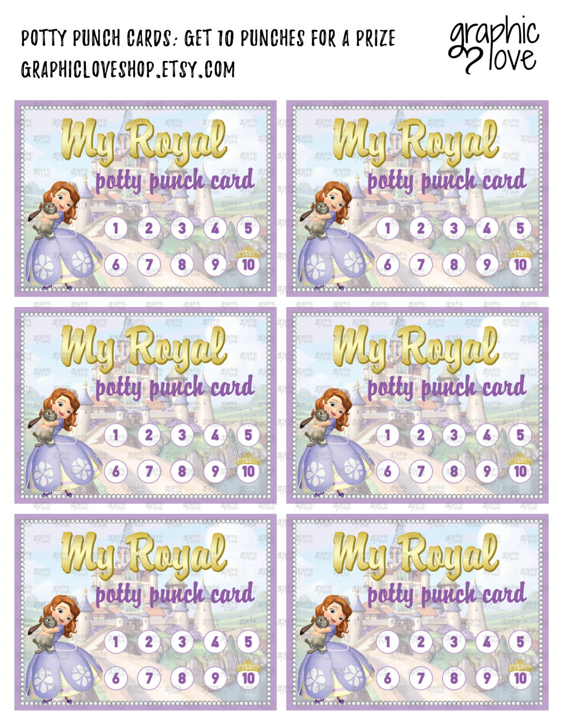 printable sofia the first royal potty training chart punch 1