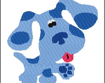 Blues Clues Blue Embroidery Design