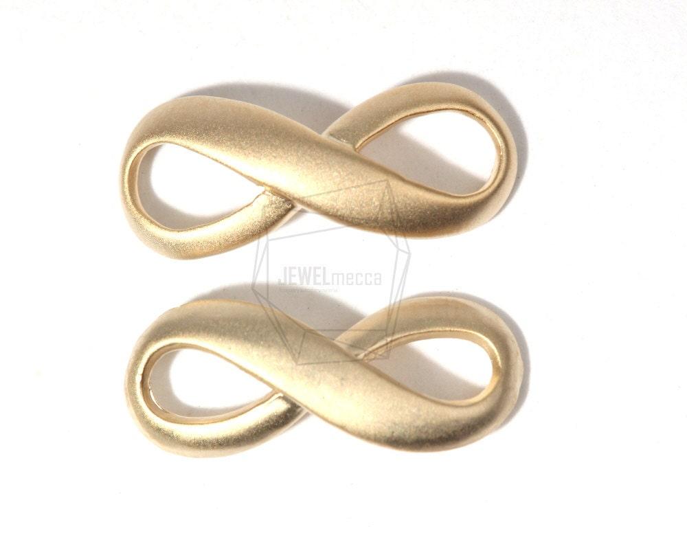 Js120125pcs matte gold plated over brass infinity sideways sold by jewelmecca biocorpaavc Gallery