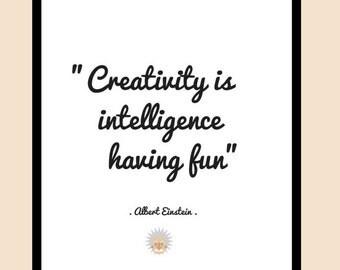 Einstein Quote | Einstein Poster | Einstein Print | Custom Print | Albert Einstein Quote | Famous Quotes | Quote Prints | Quote Art | Quotes