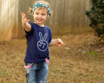 peace sign shirt | toddler t shirts, boho baby, 2 birthday shirt, second birthday, 2nd birthday shirt, two year old birthday shirt, INDIGO