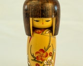 Japanese Painted Wooden Figurine, Woman or Girl