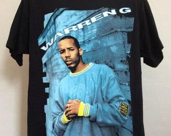 Vtg 1994 Warren G T-Shirt Black XL 90s Hip Hop Rap Rapper