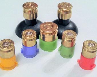 Microsoft Xbox 360 Wireless Controller Brass Bullet Buttons Mod Kit 9mm Abxy+45cal Thumbsticks+7mm Home Xbox 360 Custom Brass Bullet Buttons