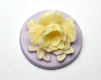 Purple Flower Cameo , Pack of 4