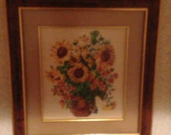 embroidery picture with frame