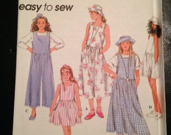 Simplicity, 8995, Pattern, Girls, Dress, Romper, Hat, Size 7, 8, 10, 12, Mailed From Canada