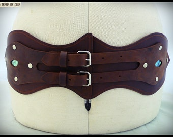 Leather belt Corset