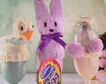 Easter Cadburys Creme Egg Covers , Easter Egg Cosies Knitting Pattern