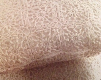 Lacy Motif Cushion Crochet Pattern