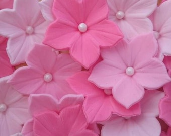 Handmade Sugar-flowers Hydrangeas cake toppers, cake Decoration.