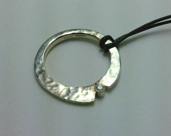 Forged Silver Pendant