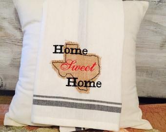 Home Sweet Home Retro Dish Towel