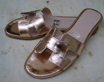 Bronze leather sandal H