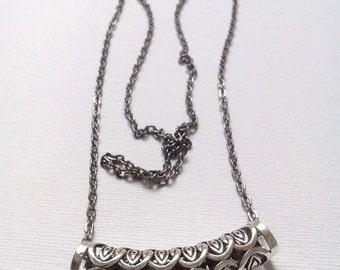 Tribal necklace, Tibetan Silver necklace, Tibetan evil eye necklace
