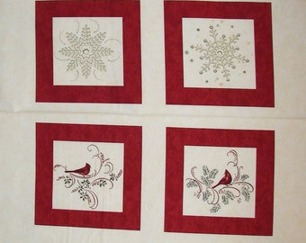 "Christmas Spirit by Holly Taylor 6470 12  Quilting Fabric Panel  24"" X WOF"