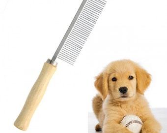 Pet Grooming Wooden Handle Comb