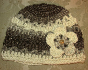 Root Beer Float Crocheted Women's Hat by Katybecca