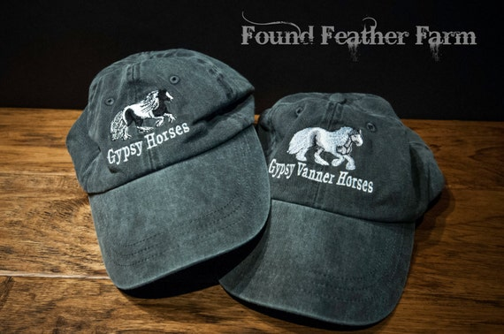 Found Feather Farm Brand Black Washed Denim Cap