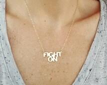 USC Trojans Fight On Necklace; University of Southern California Jewelry; Trojan Jewelry; College Jewelry; Graduation Gift; College Student