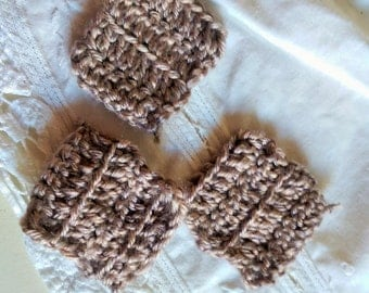 set of three hand made Eco friednly little face towels.