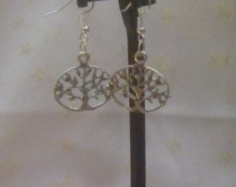 Handmade tree of life earrings