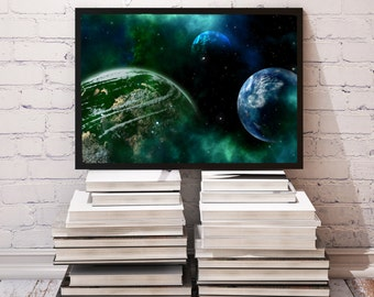 Universe poster Planet decor Space print