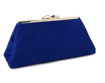 Royal Blue Handbag Clutch Purse ~ Blue Purse ~ Blue Evening Handbag ~ Blue Brides Maid Clutch Purse Bag ~ Summer Special