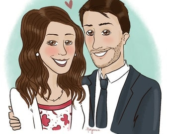 Custom couple portrait - illustration