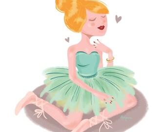 A4 Ballerina print