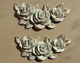 Furniture appliques shabby chic mouldings painted in Farrow and Ball