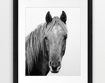 Horse Printable Art, Horse Photo, Black And White Horse Photography, Horse Print, Horse Art, Minimalist, Modern Wall Art, Instant Download