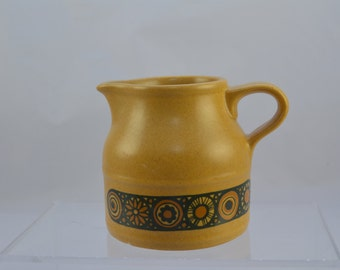Kiln craft 'Bacchus' milk jug, classic 1970s look, brown and mustard yellow
