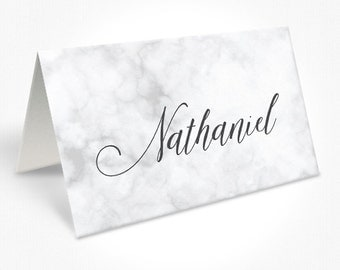 Marble Background Romantic Script Wedding Place Cards, Calligraphy Font, Place Cards, Free Colour Changes, DEPOSIT | Peach Perfect Australia