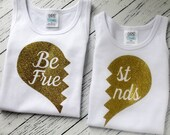 best friends shirt - bff shirt - big sister shirt - baby girl clothes - big sister little sister outfit - best friends forever shirt