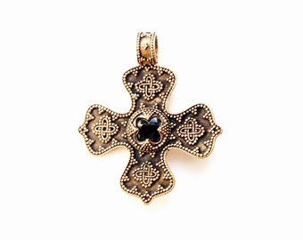 Birka cross VIKING KRISTALL pendant bronze