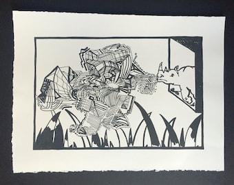 Original Rhino Graffiti print